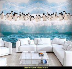 Antarctic Ice Penguin Animal Mural