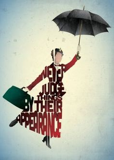 metal canvas Movies & TV mary poppins type typography tv movie quote film
