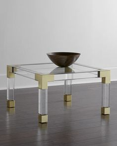 LDV's Horchow One-Day Sale Picks-- 25-30% off! | Jonathan Adler Lucite and Brass Coffee Table