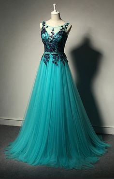 Teal Prom Dresses,Black Lace Prom Dresses,A-line Prom Dresses,Tulle Prom Dresses,Elegant Prom Dresses,Handmade Prom Dress,Evening Dress,Prom Gowns,Cheap Prom Dresses,Party Dresses,Party Gowns