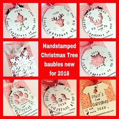 2018 hand stamped Christmas tree decorations # Christmas #Christmastreedecorations #handstamped #metalstamping