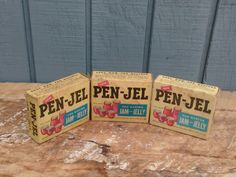 Vintage Canning Packages - Pen-Jel Pectin Packages by theindustrycottage on Etsy