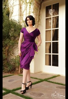Ava Dress in Plum pinupgirlclothing