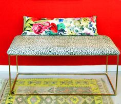 Little Green Notebook: How to Upholster Bench Corners