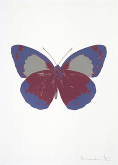 Damien Hirst ~ Framed Souls II - Loganberry Pink/Cornflower Blue/Silver Gloss, 2010