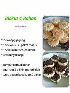 Biscuit Cookies, Biscuit Recipe, Cake Cookies, Resepi Cookies, Baking Recipes, Cookie Recipes, Malaysian Food, Quiche Recipes, Food To Make