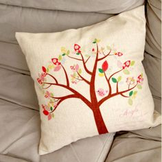 Trees Bird best pillow linen simple and stylish cushions for home