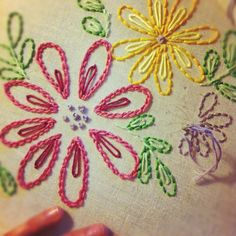 embroidery- flores