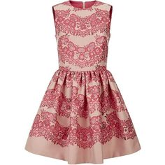 Red Valentino Jacquard Bubble Dress found on Polyvore