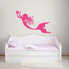 $27 Wall Decals Mermaid Nymph Sea Animal Hair Beauty Water Nature Fish Girls Kids Children Gift Nursery Wall Vinyl Decal Stickers Bedroom Murals Best_WallDecals_For_You http://www.amazon.com/dp/B00SEEJZE6/ref=cm_sw_r_pi_dp_a30Jvb15MBQ0J