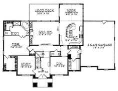 Reall like this layout!!   Floor Plans AFLFPW00983 - 2 Story New American Home with 5 Bedrooms, 3 Bathrooms and 3,358 total Square Feet