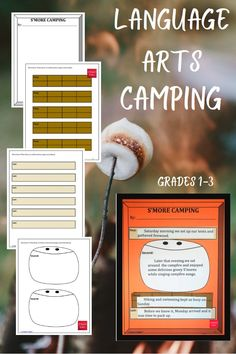 An engaging S'more Camping Activity for students in Grades 1-3. Your students will be required to create a S'more craft while putting the events of the story, S'more Camping, in sequential order. #teaching #lowerelementary #reading #camping #smore #storysequence