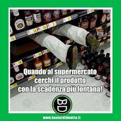 Solo gli esperti fanno la spesa così! #bastardidentro #supermercato #scadenza www.bastardidentro.it