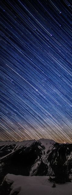 star trails over aspen highlands    #aspen #colorado #stars #startrail #space #aspensnowmass
