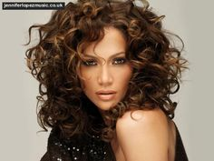 Jennifer Lopez With Curly Hair Hair