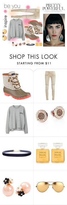 """""""Cozy yet stylish"""" by myfavorite-13 ❤ liked on Polyvore featuring Sperry, Balmain, MANGO, Michael Kors, Humble Chic, Chanel, Linda Farrow and winterboots"""