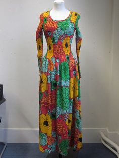 Long dress, floral printed silk with shirred elastic at bodice and sleeves, Mary Quant (unlabelled sample), Mary Quant, Young Designers, Victoria And Albert Museum, Dress Collection, Floral Prints, Summer Dresses, Womens Fashion, Fashion Design, Outfits