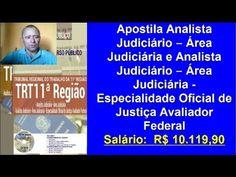 Edital Concurso TRT 11ª Região: Apostila Analista Judiciário − Área Judiciária e Analista Judiciário − Área Judiciária – Oficial de Justiça Avaliador Federal   Apostilas Para Concursos