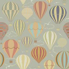 Tło z balonów na ogrzane powietrze 32294924