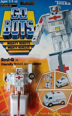 "gobots rest q   GoBots ""Rest-Q"" Transforming Robot (Tonka) *SOLD*"