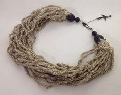 Collier multi rangs / Brun naturel au crochet / fait par ByMima, €54.00