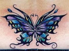 One popular tattoo design that you may want to consider is the butterfly tattoo. The butterfly tattoo is a main stream tattoo symbol and is one of the most popular tattoos in the world. Butterfly tattoos are a common choice for many women. Butterfly Tattoo Cover Up, Butterfly Tattoo Meaning, Butterfly Tattoo On Shoulder, Butterfly Tattoos For Women, Butterfly Tattoo Designs, Butterfly Design, Tribal Butterfly, Butterfly Fairy, Herz Tattoo