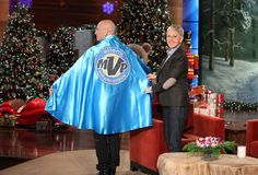 "Howie is Ellen's ""MVP"" - Most Visited Person!"