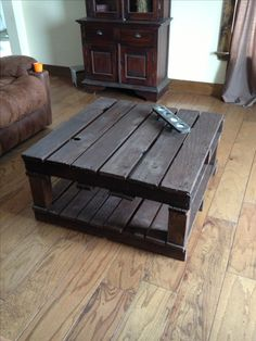 Pallet coffee table I made:)
