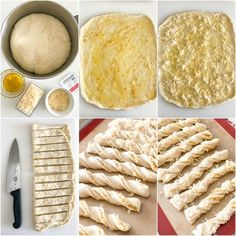 Mar 2018 - No-fail breadsticks infused with roasted garlic and laced with cheese inside and out. Unbelievably delicious, yet truly simple to make. Garlic Recipes, Bread Recipes, Cooking Recipes, Bread Bun, Bread Rolls, Garlic Breadsticks, Roasted Garlic, Dinner Rolls, Homemade