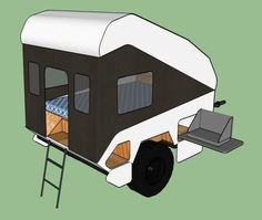 Clamshell camper