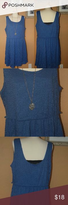 "Plus size summer Lace Dress Lovely plus size dress. Above the knee if you are 5""6 and taller. Elastic waist. To be wear with a belt. (Belt not included. Misplaced) stretchy material with lace on top. See pics for better description. Ask any questions                      XNO TRADESX                                                   Hit me a reasonable offer.                                25% off on bundles.                                      Follow me on IG @lilian.barillas…"