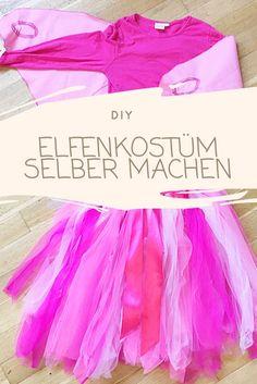 Egal ob als Schmetterling, Elfe, Fee oder Ballerina mit dieser Anleitung kannst du ein Faschingskostüm selber machen. Für den Tüllrock brauchst du keine Nähmaschine.