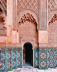 """spring,proverb-Inscription: """"You who enter my door, may your highest hopes be exceeded"""" 🇲🇦🙏☀️marrakech spring proverb Places To Travel, Places To See, Travel Destinations, Morocco Travel, Islamic Architecture, Architecture Design, To Infinity And Beyond, Adventure Is Out There, Elle Decor"""