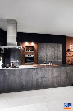 Loft Kitchen, Kitchen Room Design, Kitchen Themes, Home Decor Kitchen, Kitchen Furniture, Kitchen Interior, Luxury Kitchens, Cool Kitchens, Küchen Design