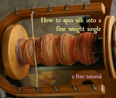 Join me as I happily spin up some 100% hand painted silk roving. Here is everything you need to know to successfully spin silk into yarn.