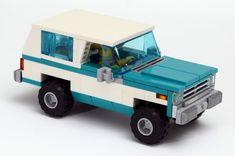 Awesome Lego, Cool Lego, Easy Lego Creations, Lego Baby, Lego Truck, Lego Display, Lego Builder, Lego Vehicles, K5 Blazer