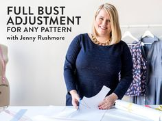 """Get off online sewing fitting workshop """"Full Bust Adjustment for Any Pattern"""", hosted by Craftsy! Sewing Class, Love Sewing, Hand Sewing, Sewing Tips, Sewing Projects, Sewing Tutorials, Sewing Ideas, Diy Projects, Clothes Crafts"""