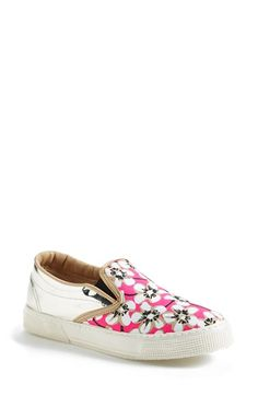 Kurt Geiger London 'London' Floral Print Slip-On Sneaker (Women) available at #Nordstrom