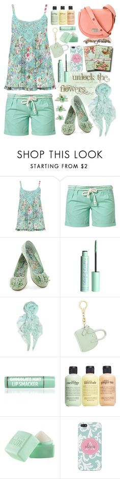 """Unlock the Flowers"" by valsal ❤ liked on Polyvore featuring M&Co, O'Neill, H&M, Feather & Stone, Kate Spade, Marc by Marc Jacobs, philosophy, Balmi, maurices and floral"