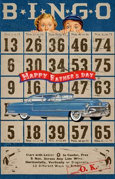 Wild@heart: Friday freebie - Bingo Father's day card