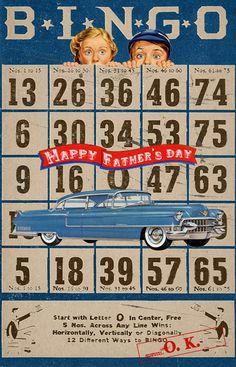 Wild@heart: Friday freebie - Bingo Father's day card