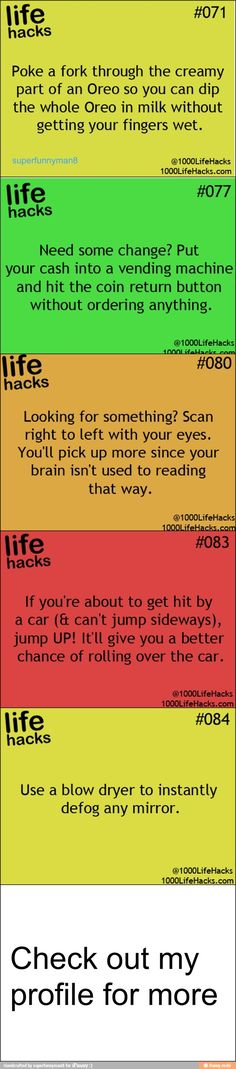 Everything Hacks, Tips, & Tricks: Life hacks / iFunny :) Nemo Sea Hack My Life, Simple Life Hacks, Useful Life Hacks, The More You Know, Good To Know, Just For You, Car Hacks, Hacks Diy, Food Hacks