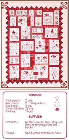 very cute Red Work and other patterns - Erica's (Embroidery by hand)