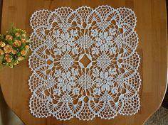 Crochet doilysquare doilyyellow doilycrochet napkinsquare