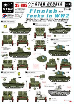 Star Decals 35-895, Decals for Finnish Tanks in WW2 #3:T-26A 2turret,T-26 m/1939 in Toys & Games, Model Kits, Paints & Accessories | eBay