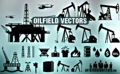 oil related vectors, good to take inspiration from