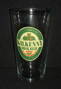Kilkenny Irish Beer Glass Cup Guinness Red Abbey Brewery Luminarc 16 Oz #Luminarc