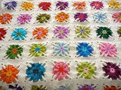 blanket crochet granny-square