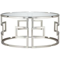 Geometric Silver Glass Coffee Table from @LAMPS PLUS  LOVE it!!!!