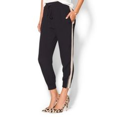 Willow & Clayfancy jogger SZ M 6/8/10 NWT! $68 Super cute! I actually own these in a different size! They look amazing with booties, flip flops, or heels! Really awesome brand, I love mine! Nordstrom & saks brand, these are elastic at the ankles & waist, so eat that big meal! There's room! Could also work for maternity depending on how far along you are I suppose. Wear to work, for play, or running around- NWT! Grab this steal while you can!  *these fit up to SZ 10. I'm a 12/14 & can get…